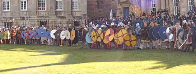 Vikings prepare for battle